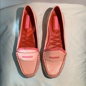 Light pink slip ons/loafers